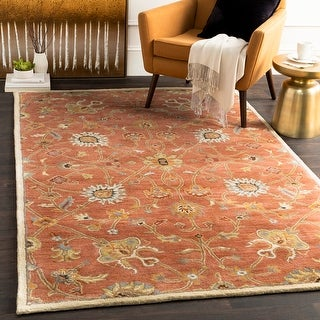 Hand-tufted Trey Traditional Wool Area Rug