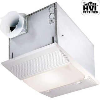 NuTone 9965 70 CFM 4 Sone Ceiling Mounted HVI Certified Bath Fan with Light and