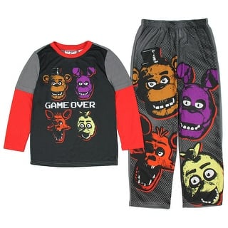 Five Nights at Freddy's Game Over Four Heads Two Piece Youth Pajama Set|https://ak1.ostkcdn.com/images/products/is/images/direct/230d3580acbe7e03ac857fb1ec48a8d5518935b5/Five-Nights-at-Freddy%27s-Game-Over-Four-Heads-Two-Piece-Youth-Pajama-Set.jpg?impolicy=medium