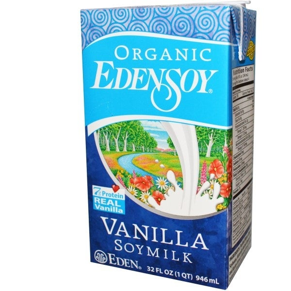 EdenSoy Organic Vanilla Soymilk 32 oz (Pack of 12)