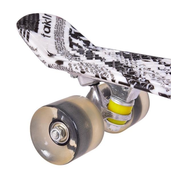 "Complete 22/"" Cruiser Skateboard Bendable Deck PU Casters Kids Youths Beginners ~"