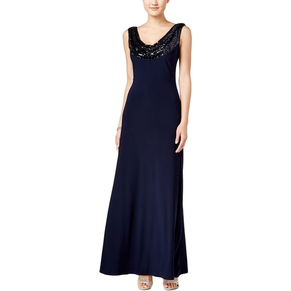 518412637c177 Shop Betsy & Adam Womens Formal Dress Sequined Cowl Neck - Free Shipping On  Orders Over $45 - Overstock - 17366163