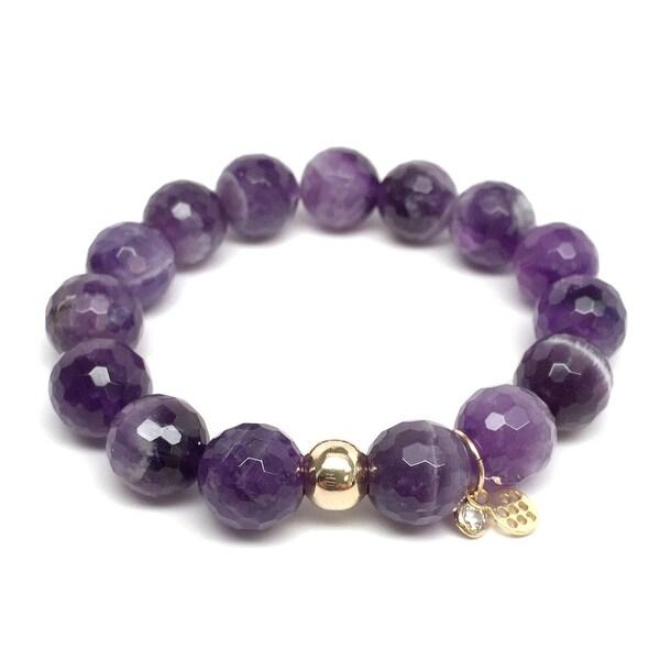 """Purple Amethyst Lauren 7"""" Bracelet"""