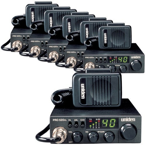 Uniden PRO520XL (6-Pack) CB Radio with ANL Switch and Squelch Knob