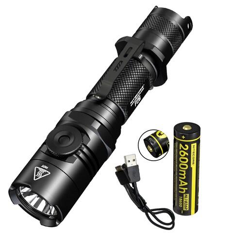 NITECORE P26 1000 Lumen Infinite Brightness Tactical Flashlight w/ USB Rechargeable Battery