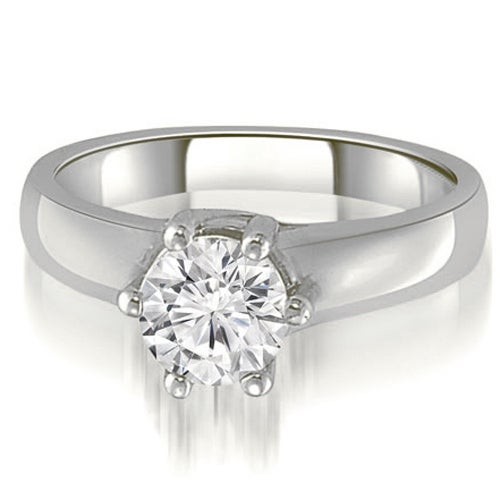 0.75 cttw. 14K White Gold 6-Prong Lucida Solitaire Diamond Engagement Ring
