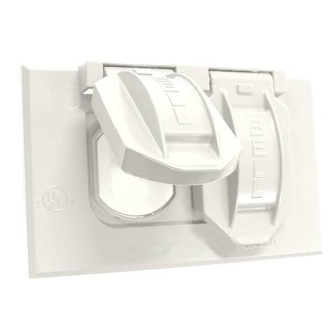 Bell 5180-6 Single Gang Weatherproof Duplex Box Cover, White