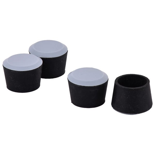 Home Office Rubber Round Shaped Furniture Table Leg Protector Pad Cover Cap 4pcs