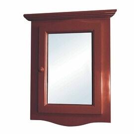 Solid Wood Corner Medicine Mirror Cabinet Cherry