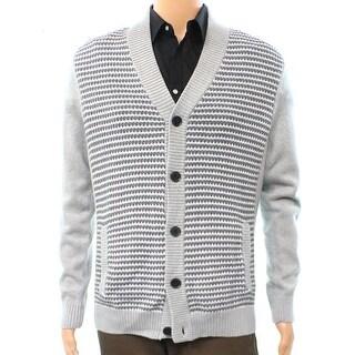 Alfani NEW Gray Heather Mens Size XL Classic-Fit Knit Cardigan Sweater