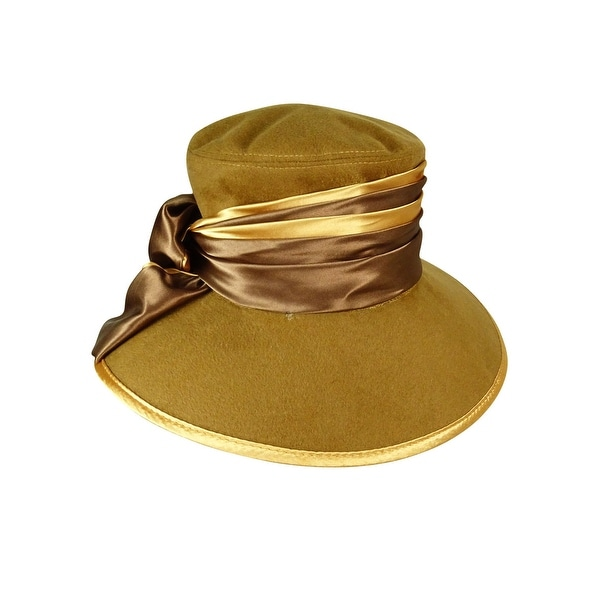 Shop Giovannio Women s Satin Band Felt Down Brim Hat - Brown - OS - Free  Shipping Today - Overstock - 23447609 be27004481cd