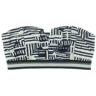 Kiind Of Womens Strapless Printed Bandeau Top