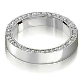 0.72 cttw. 14K White Gold Elegant Round Cut Diamond Eternity Band Ring