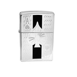 Zippo 241964 Classic High Polish Chrome Ace Windproof Pocket Lighter