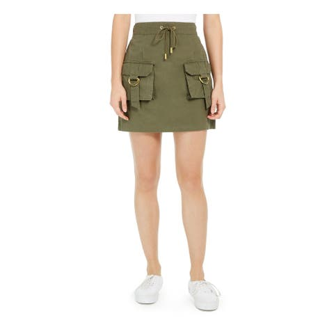 PLANET GOLD Womens Green Mini Skirt Size S