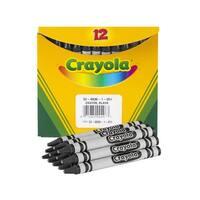 Crayola Non-Toxic Regular Single-Color Crayon Refill, 5/16 X 3-5/8 in, Black, Pack of 12