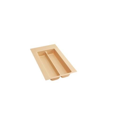 "Small Almond Polymer Utility Tray - 11.5""W x 21.25""D x 2.38""H"