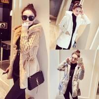 Women Cardigan Hoodie Fluffy Faux Fur Knitting Jacket Warm Winter Coat Outwear