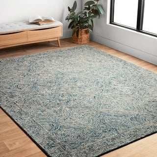 Link to Alexander Home Aspen Denim Wool Hand-tufted Contemporary Area Rug Similar Items in Rugs