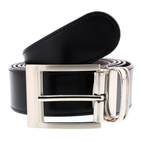 HS Collection HSB 1001 Black/Brown Reversible/Adjustable Mens Belt