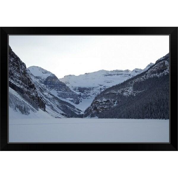 """Canada, Banff National Park, Lake Louise in winter"" Black Framed Print"