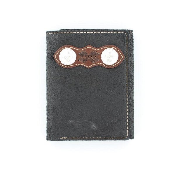 Nocona Western Wallet Classic Mens Trifold Top Hand Conchos - One size