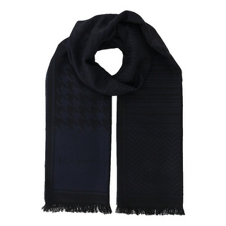 Missoni SC12WOU5857 0006 Dark Blue/Black 100% Wool Scarf