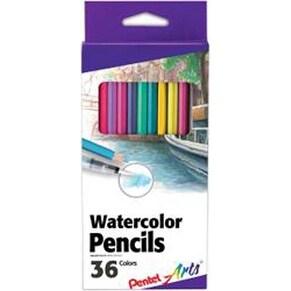Assorted Colors - Pental Arts Watercolor Pencils 36/Pkg