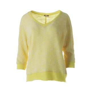 Kut From The Kloth Womens Knit 3/4 Sleeves Pullover Sweater