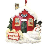 "Club Pack of 12 ""New Home"" and ""Our First Home"" Christmas Ornaments 3.75"" - multi"