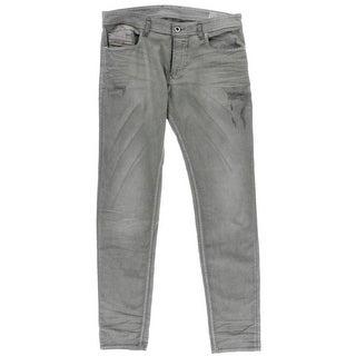 Diesel Mens Slim Fit Distressed Skinny Jeans - 33