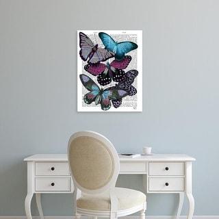 Easy Art Prints Fab Funky's 'Big Bold Butterflies 5' Premium Canvas Art
