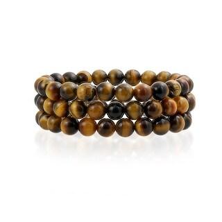 Bling Jewelry Set of 3 Stackable Imitation Tiger Eye Stretch Bracelet 8mm