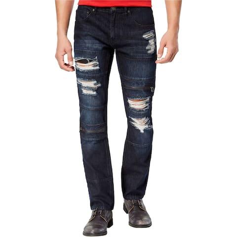 I-N-C Mens Ripped Slim Fit Jeans