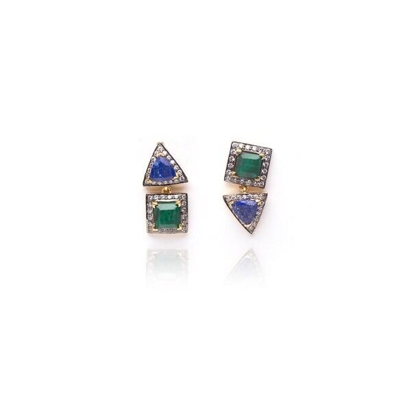 Free Spirit Earrings in Green