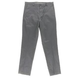 Calvin Klein Mens Dress Pants Pattern Slim Fit