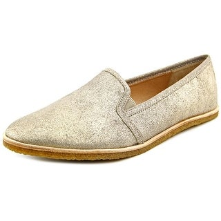 Splendid Beatrix Women Round Toe Leather Gold Loafer