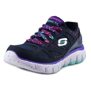 Skechers S Flex Fashion Play Round Toe Synthetic Sneakers