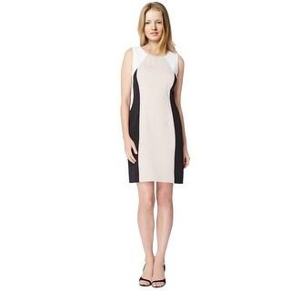 Tahari ASL Colorblocked Sleeveless Sheath Dress - 16