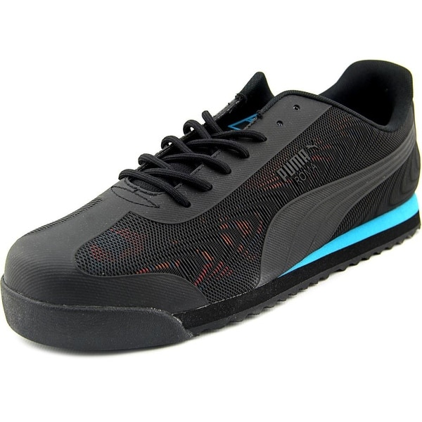 Puma Roma TK Graphic Men Round Toe Canvas Black Sneakers