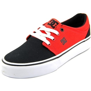 DC Shoes Trase TX Women Round Toe Canvas Red Skate Shoe
