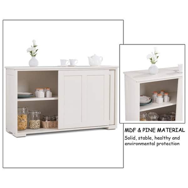 Shop Costway Kitchen Storage Cabinet Sideboard Buffet ...