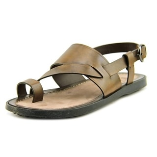 Tod's Sandalo Infrad Sott Cuoio Fondo NU Men Leather Brown Fisherman Sandal