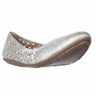 naturalizer Undo Perforated Comfort Flats - Silver