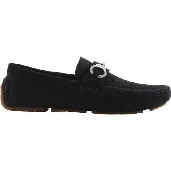 Jimmy Choo Men X27 S Brogan Croc Print Suede Driving Shoe Black