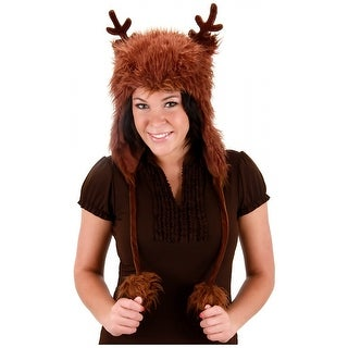 Brown Reindeer Hoodie Adult Costume Accessory