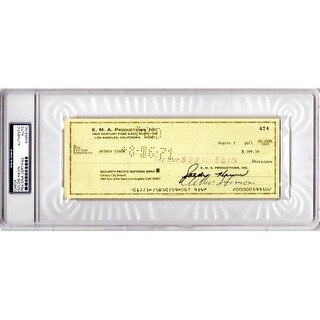 Goldie Hawn Signed - Autographed Original Bank Check from 1971 -