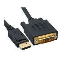 Offex DisplayPort to DVI Video Cable, DisplayPort Male to DVI Male, 6 foot