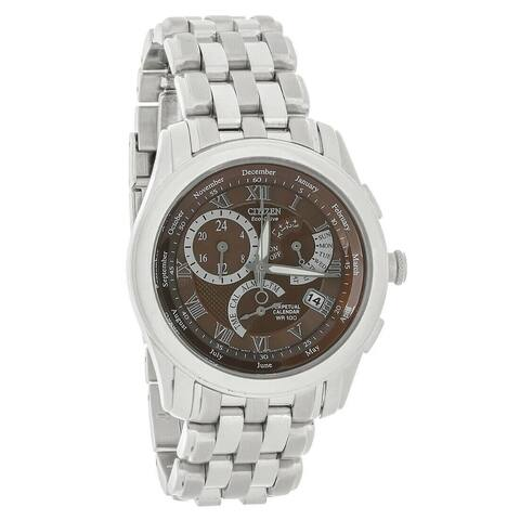 Citizen Men's BL8000-54X 'Eco-Drive' Stainless Steel Watch - Brown