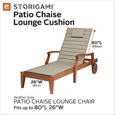Mushola FadeSafe Chaise Lounge Cushion by Havenside Home